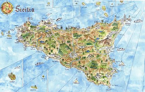 Cartina Turistica Sicilia Occidentale.Escursioni Da Scopello Per La Sicilia Occidentale